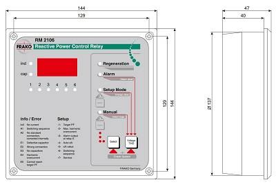 رگولاتور بانک خازنی، فراکو مدل RM2106