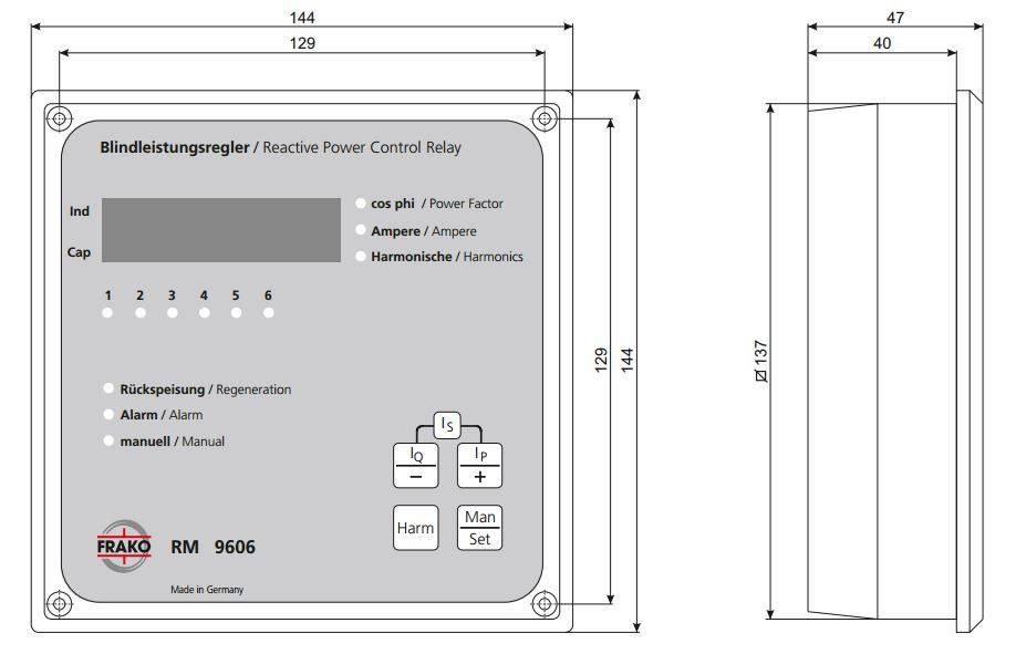 رگولاتور بانک خازنی، فراکو مدل RM9606