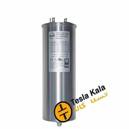 خازن 3فاز فشار ضعیف فراکو ، 12.5 کیلووار در 440 ولت ( 10 در 400) LKT12.5-440DP