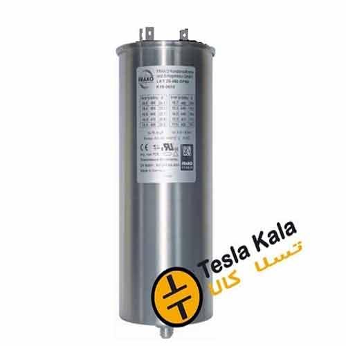 خازن 3فاز فشار ضعیف فراکو ، 25 کیلووار در 440 ولت ( 20 در 400) LKT25-440DP