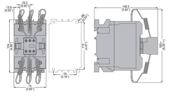 کنتاکتور خازنی 50کیلوواری برند LOVATO مدل 11BF70K00230