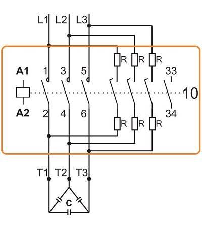 کنتاکتور خازنی 12.5کیلوواری برند LOVATO مدل BFK1210A230