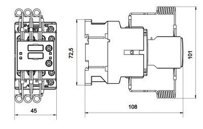 کنتاکتور خازنی 15 کیلوواری برند RK مدل CNNK1511