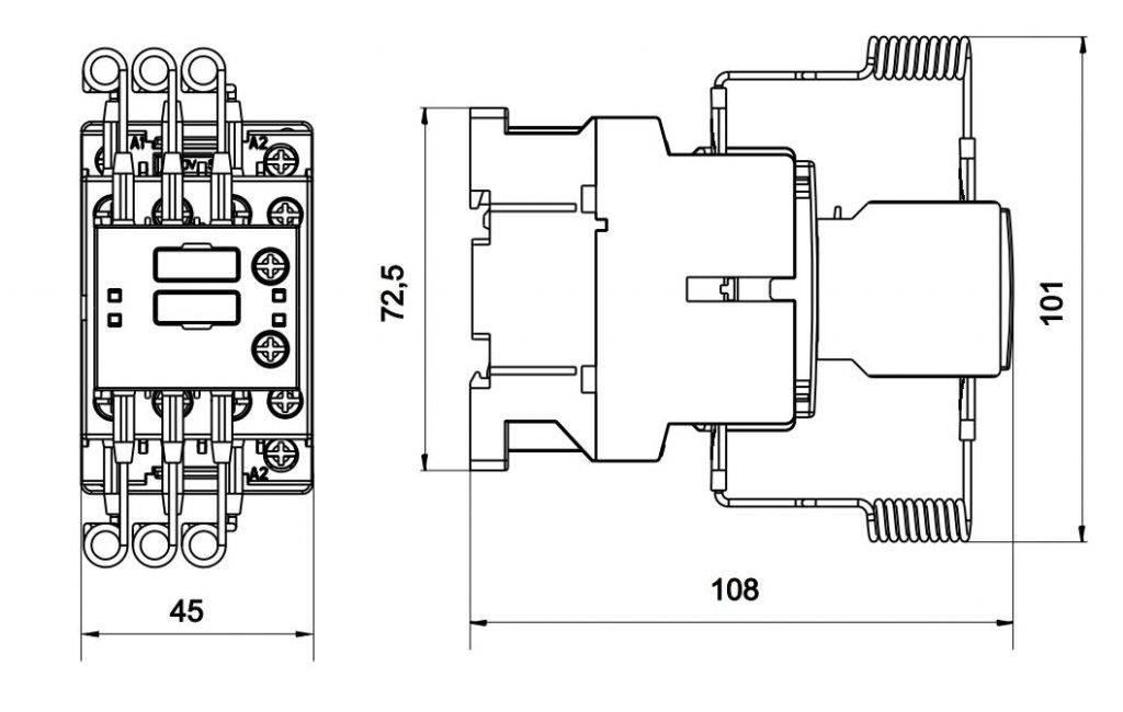 کنتاکتور خازنی 15 کیلوواری برند RK / ETI مدل CNNK15