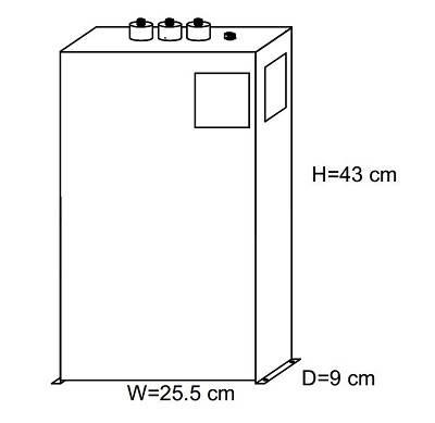خازن 3فاز فشار ضعیف فراکوه، 18.2 کیلووار در 440 ولت ( 15 در 400) مکعبی