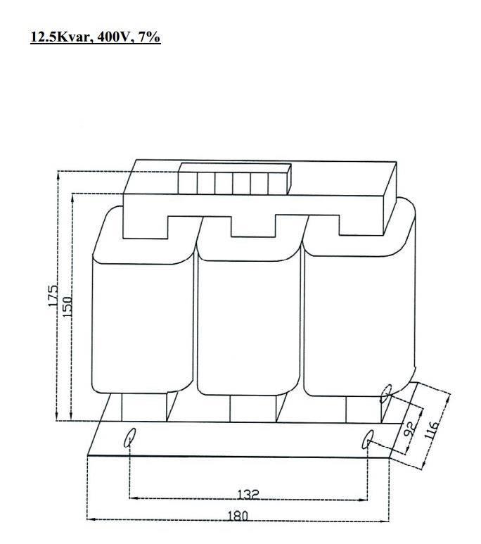 فیلتر هارمونیک خازنی 12.5کیلووار فراکوه HFR-7/400/12.5