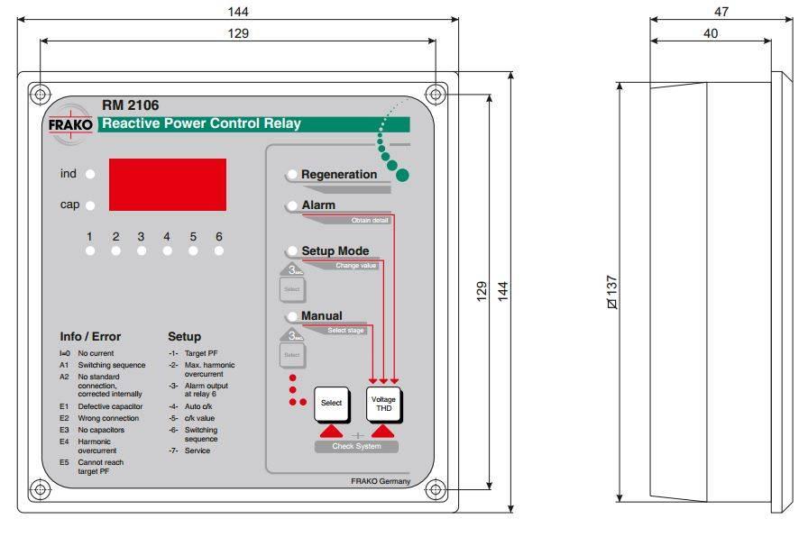 رگولاتور بانک خازنی، فراکو مدل RM2112