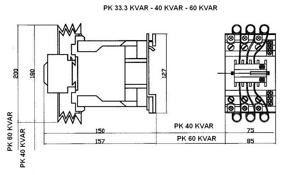 40 60 kvar draw 2 - کنتاکتور خازنی 60کیلوواری TC با برند PKC