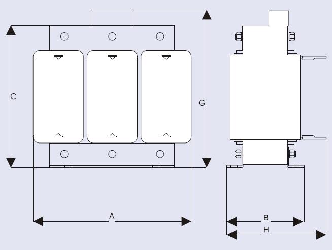 فیلترهارمونیک خازنی 100کیلووار ، مدلPKR-400/14/100