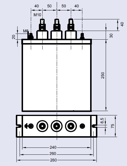 باکس خازن سه فاز فشارضعیف پرتوخازن PKC, 400V, 5KVAR