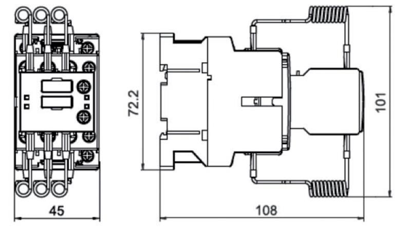 کنتاکتور خازنی 12.5کیلوواری برند LIFASA مدل KML1211