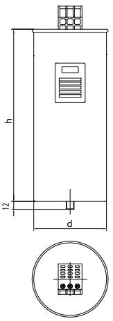 خازن 3فاز فشار ضعیف لیفاسا، 25 کیلووار در 440 ولت ( 20 در 400) مدل POLB44250HD