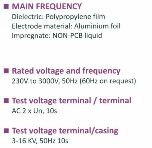 خازن 3فاز فشارضعیف روغنی،50 کیلووار پارس مدل NL 400/50 3PHD