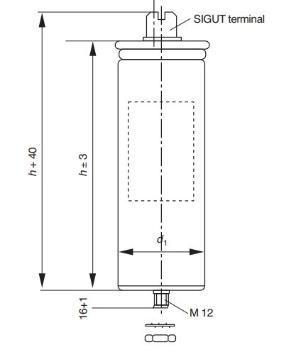 خازن سه فاز فشار ضعیف خشک اپکاس آلمان، 12.5کیلووار،400 ولت