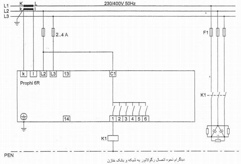 رگولاتور بانک خازنی، یانیتزا  ساخت آلمان  JANITZA مدل PROPHI-6R