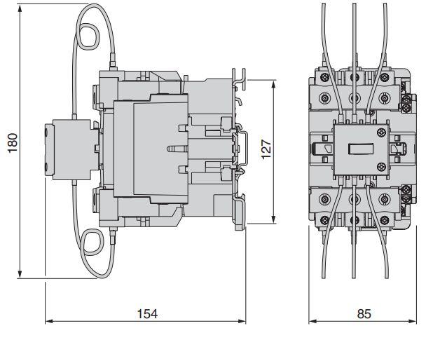 کنتاکتور خازنی 60کیلوواری اشنایدر SCHNEIDER مدل LC1DWK12M7