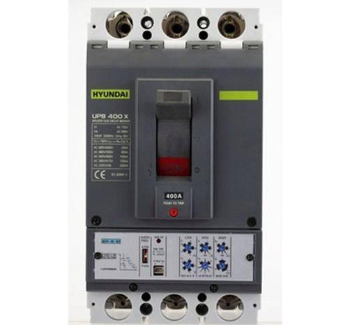 کلید اتوماتیک،کمپکت 400 آمپر،قابل تنظیم الکترونیکی  HYUNDAI مدل UPB