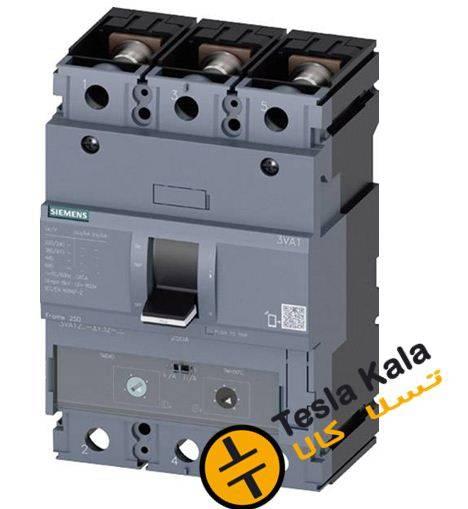 کلید SIEMENS اتوماتیک 250 آمپر قابل تنظیم حرارتی-غیرقابل تنظیم مغناطیسی 3VA1225-4EF32-0AA0