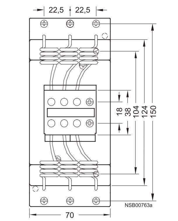 کنتاکتور خازنی 50 کیلوواری برند SIEMENS مدل 3RT1647-1AP01