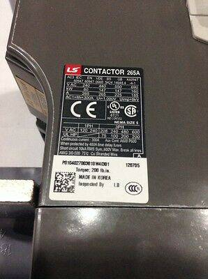 gall MC 265a 3 100 200AC DC LS Metasol Contactor 3 Pole 100 200V 2a2b  1 - کنتاکتور قدرت، 265 آمپر، 147 کیلووات، بوبین VDC/AC 240-100 ، برند LS مدل MC-265a
