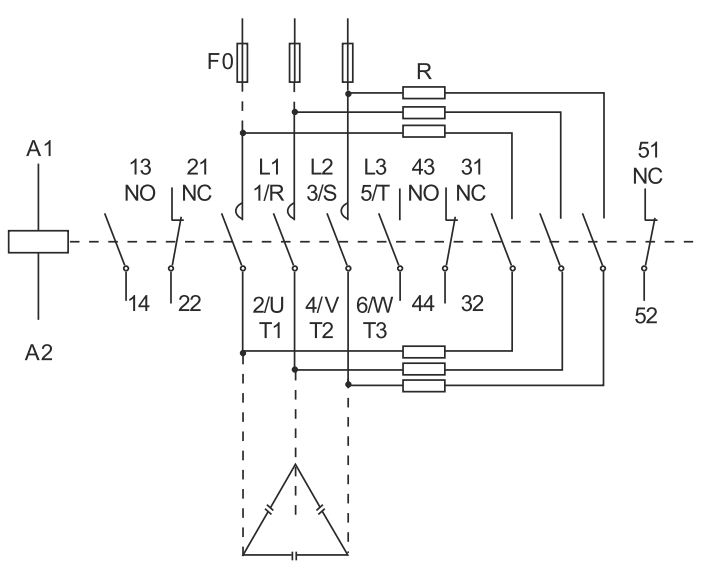 کنتاکتور خازنی 60 کیلوواری برند ABN-UK مدل RVCC6023