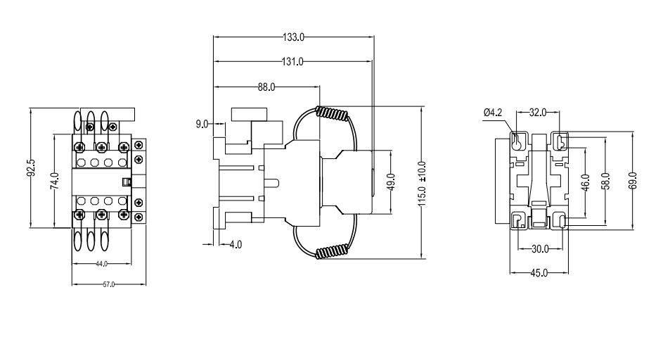 کنتاکتور خازنی 20 کیلوواری برند ABN-UK مدل RVCC2012