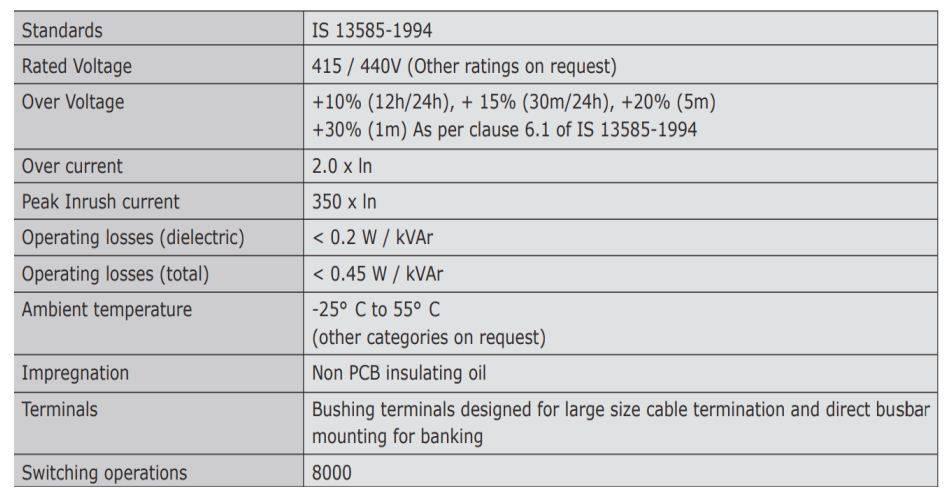 خازن 3فاز فشار ضعیف روغنی کتابی، پارس غرب، 50 کیلووار در 440 ولت