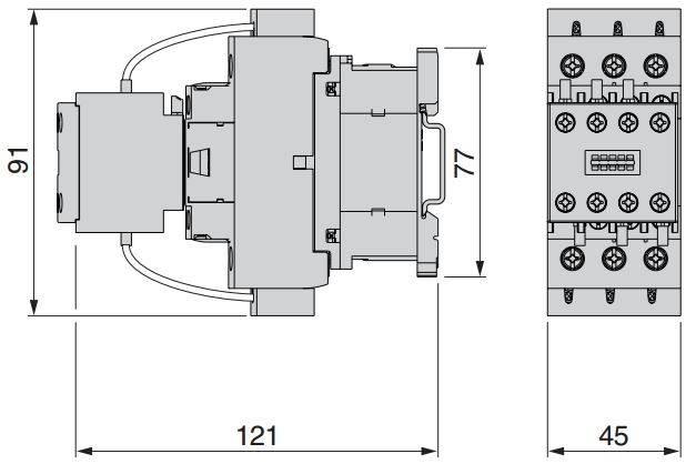 DIAGRAM TESLAKAL LC1DK 3 - کنتاکتور خازنی 12.5 کیلوواری اشنایدر SCHNEIDER مدل LC1DFK11M7