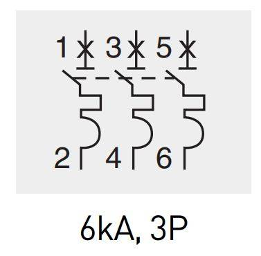 2 1 - کلید مینیاتوری،تک پل،تک فاز ،25 آمپر،6 کیلو آمپر، HYUNDAI سری HGD 63N