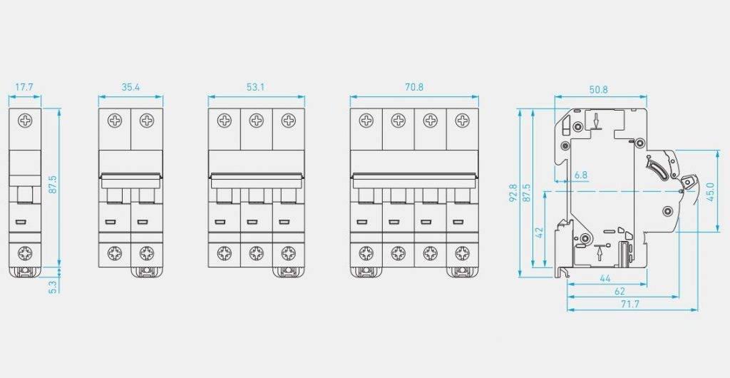 ALL MCB HGD 63N H - کلید مینیاتوری،تک پل،تک فاز ،25 آمپر،6 کیلو آمپر، HYUNDAI سری HGD 63N