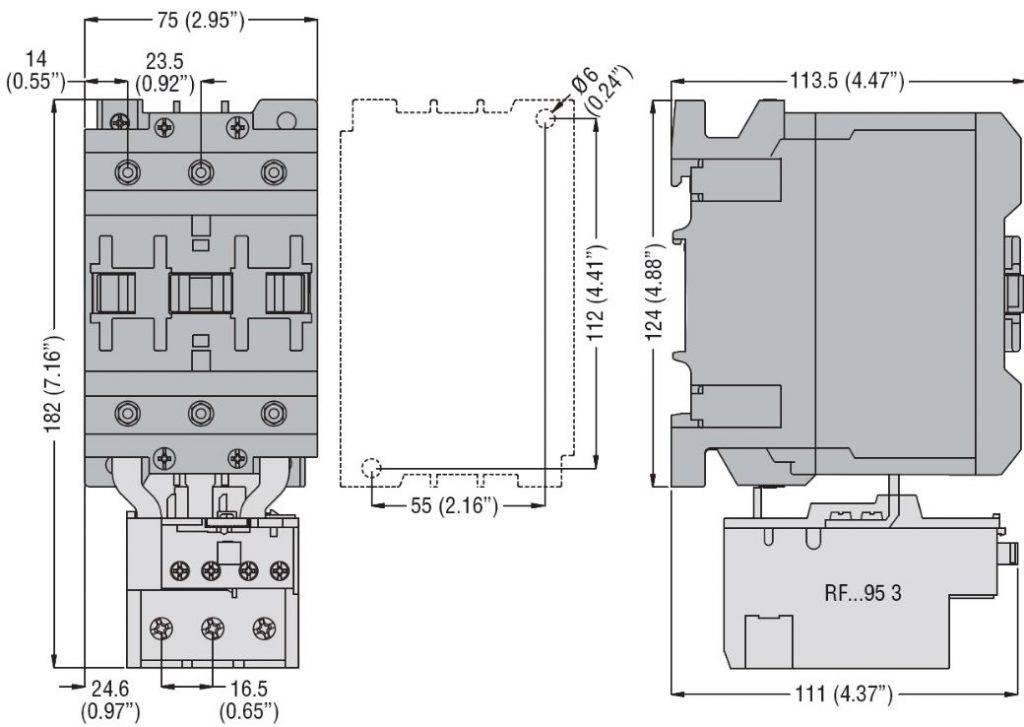 کنتاکتور قدرت، 65 آمپر، 30 کیلووات، بوبین 230VAC ، برند لواتو ایتالیا LOVATO – BF65