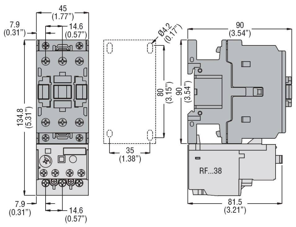 کنتاکتور 38 آمپر، 18 کیلووات، بوبین 230VAC ، برند لواتو ایتالیا LOVATO – BF38