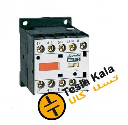 کنتاکتور قدرت، 12 آمپر، 5.5 کیلووات، بوبین 230VAC، برند لواتو ایتالیا LOVATO-11BG12