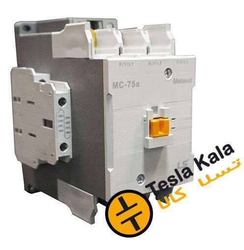 f mc 75 a ls - کنتاکتور قدرت، 75 آمپر، 37 کیلووات، بوبین VAC 220 ، برند LS مدل MC-75a