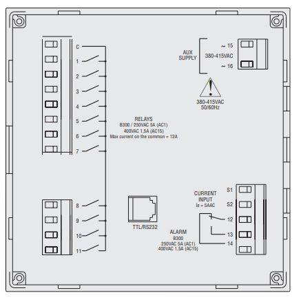 DCRK 812 2 - رگولاتور بانک خازنی، 12 پله لواتو ایتالیا LOVATO مدل DCRK12