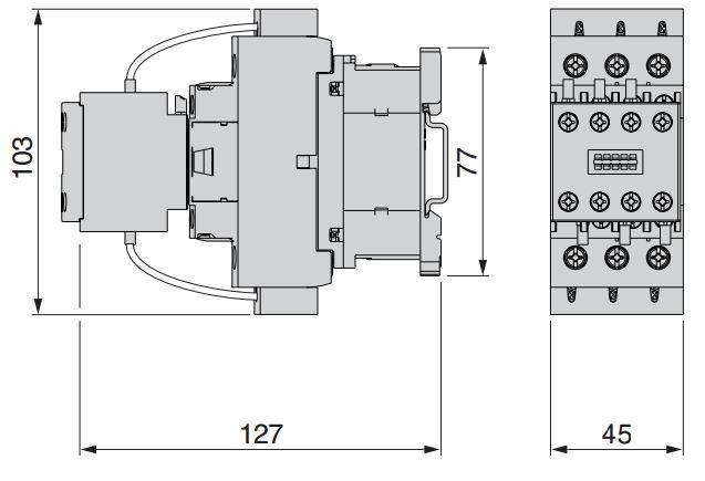 NIMUAXVOSH10272016172331 LC1DK 4 - کنتاکتور خازنی 25 کیلوواری اشنایدرSCHNEIDER LC1DMK11M7