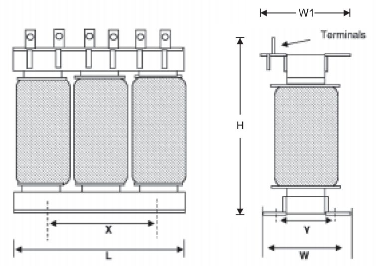 فیلتر هارمونیک خازنی 12.5کیلووار(سیم پیچی آلومینیوم ) پارس 7/400/12.5