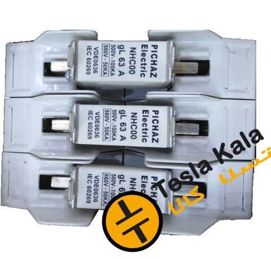 مجموعه فیوز و پایه فیوز 160آمپر پیچاز الکتریک (فیوز تا 160 آمپر بسته به انتخاب)