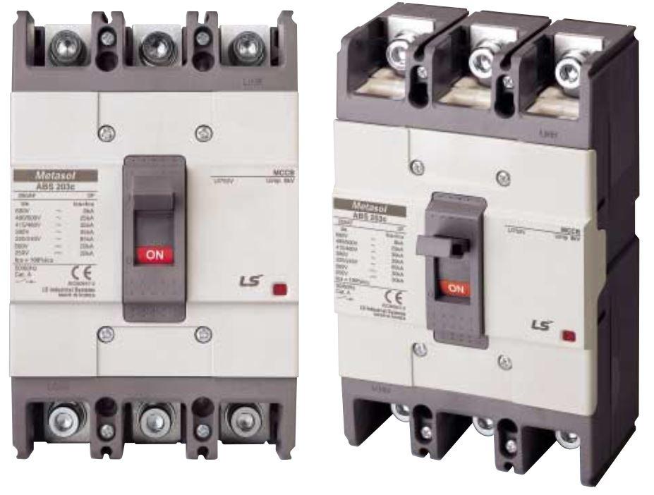 کلید اتوماتیک،کمپکت 175 آمپر،غیرقابل تنظیم حرارتی-مغناطیسی LS سری metasol