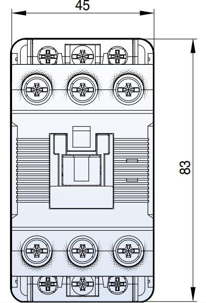کنتاکتور قدرت، 32 آمپر، 15 کیلووات، بوبین 110 و 24 VDC، برند LS مدل MC-32a