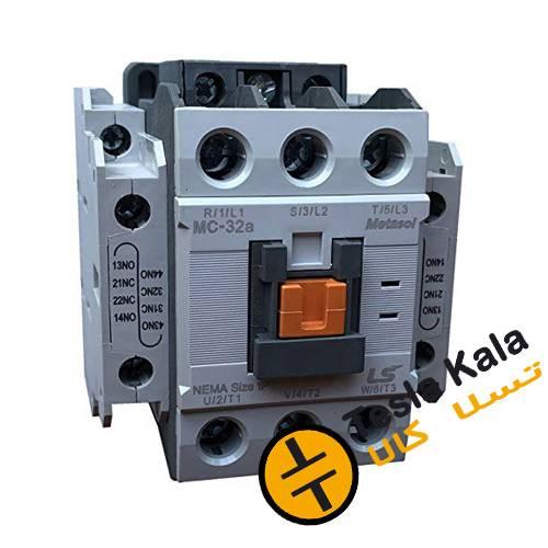 Untitled 1 - کنتاکتور قدرت، 32 آمپر، 15 کیلووات، بوبین VAC 220 ، برند LS مدل MC-32a