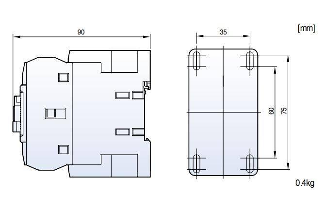 mc32a coil AC - کنتاکتور قدرت، 32 آمپر، 15 کیلووات، بوبین VAC 110 ، برند LS مدل MC-32a