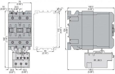 کنتاکتور قدرت، 95 آمپر، 52 کیلووات، بوبین 110VDC، برند لواتو ایتالیا LOVATO - BF95