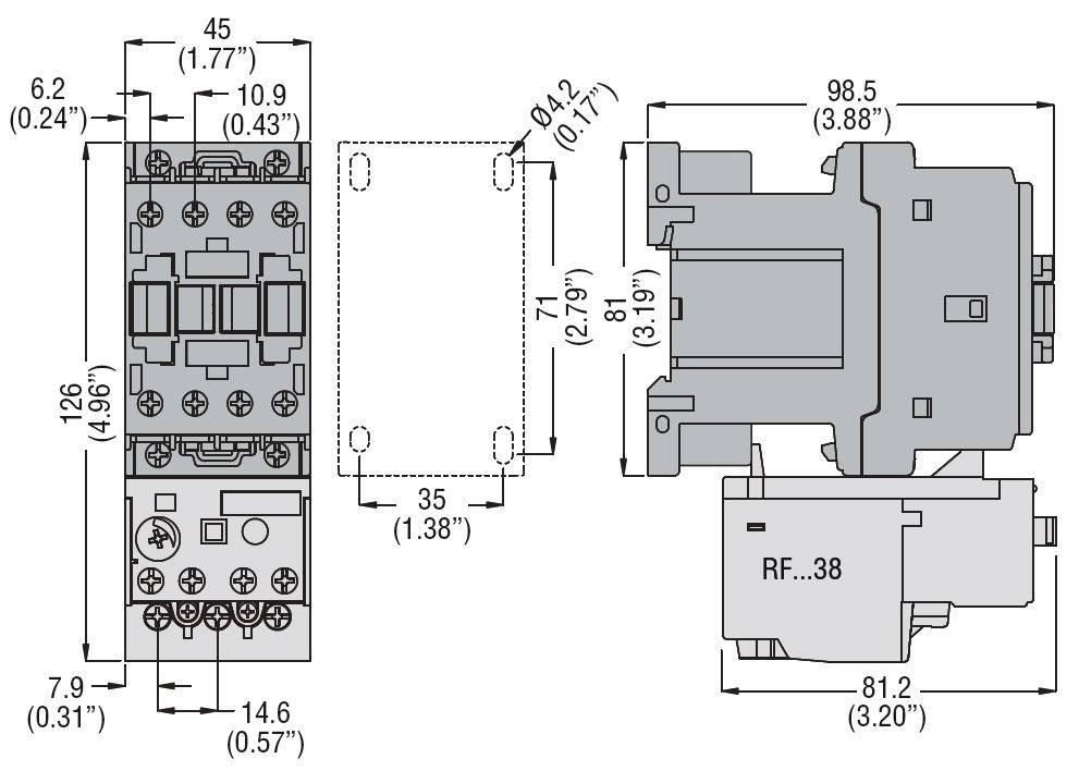 کنتاکتور قدرت، 25 آمپر، 11 کیلووات، بوبین 110VDC، برند لواتو ایتالیا LOVATO – BF25