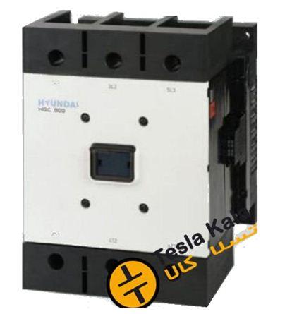 Capture 1 - کنتاکتور قدرت، 630 آمپر، 330 کیلووات، بوبین 100-220 AC/DC برند هیوندای مدل HGC