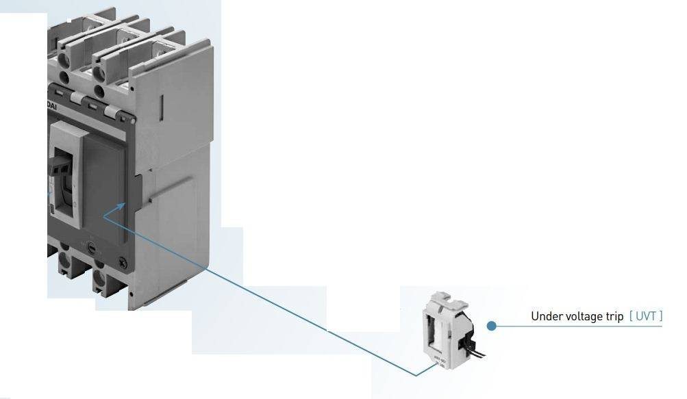 Capture - رله آندر ولتاژ، جهت کلید اتوماتیک MCCB، هیوندای،تا 250 آمپر حرارتی-مغناطیسی