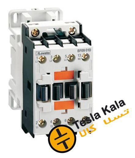 کنتاکتور قدرت، 9 آمپر، 4 کیلووات، بوبین 110VDC، برند لواتو ایتالیا LOVATO – BF09