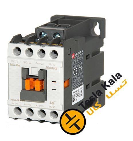 کنتاکتور قدرت، 6 آمپر، 3 کیلووات، بوبین VAC 220، برند LS مدل MC-6a