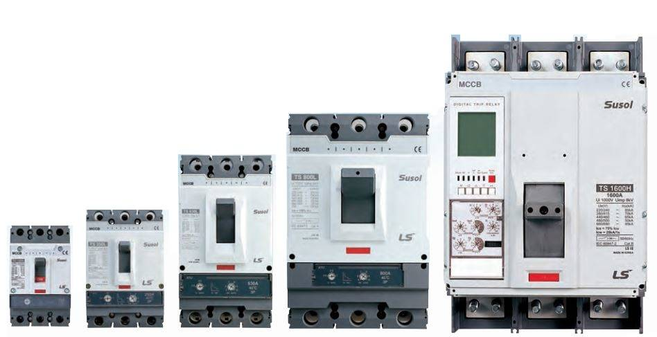 SUSOL MCCB FRAMES - کلید اتوماتیک،کمپکت 160 آمپر،قابل تنظیم حرارتی-مغناطیسی LS سری SUSOL