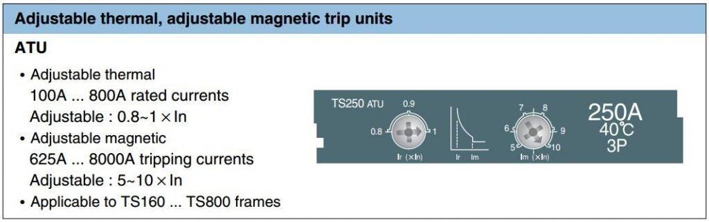 gallery all ATU - کلید اتوماتیک،کمپکت 160 آمپر،قابل تنظیم حرارتی-مغناطیسی LS سری SUSOL
